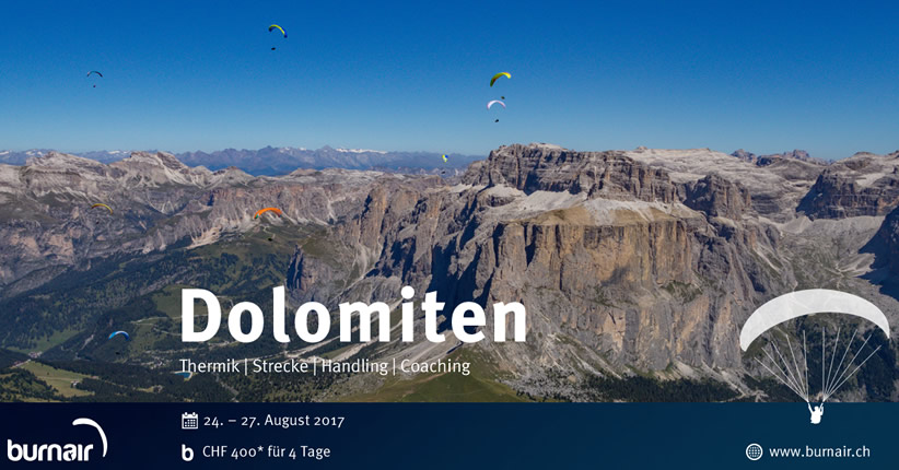 burnair Reise - Dolomiten 2017