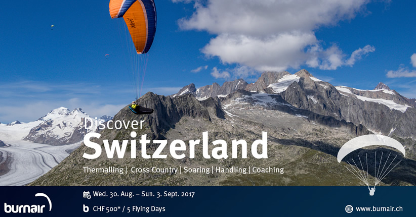 burnair Adventure - Discover Switzerland 2017