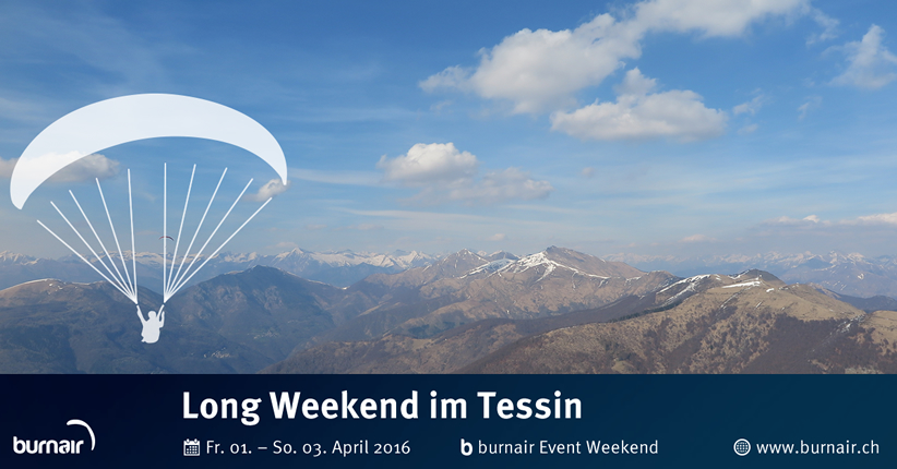 burnair Event Long Weekend - Tessin 2016