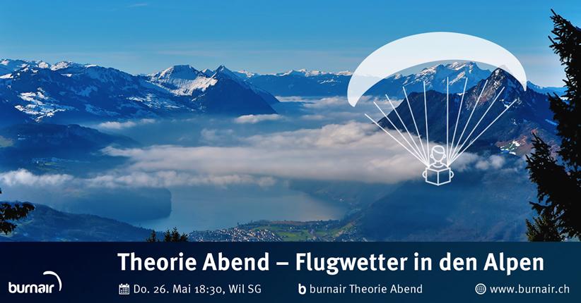 burnair Theorie Abend - Flugwetter in den Alpen (inkl. Talwinde)