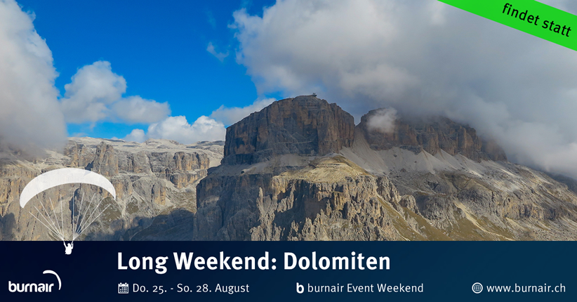 burnair Event Long Weekend - Dolomiten 2016