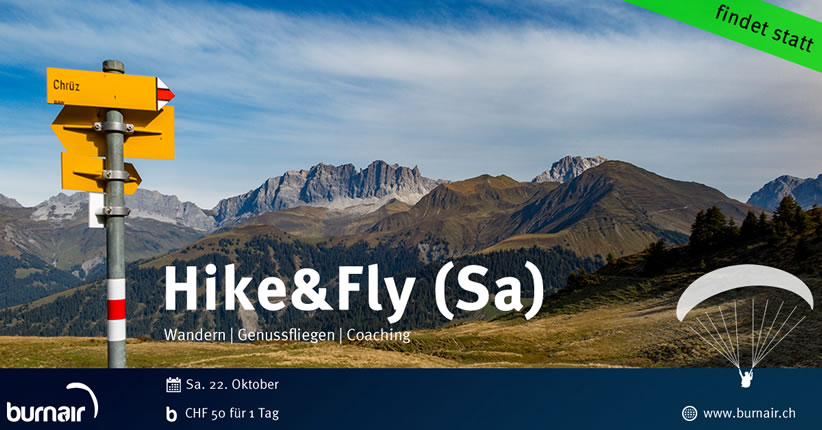 burnair Hike & Fly Day Samstag 22. Okt