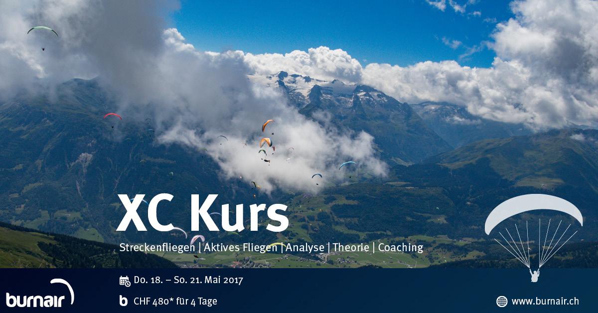 burnair XC (Streckenflug) Kurs – Zentralschweiz