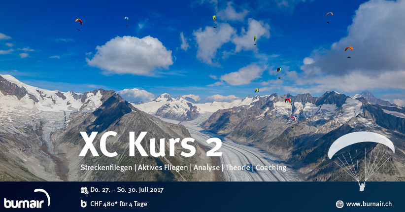 burnair XC (Streckenflug) Kurs – Wallis