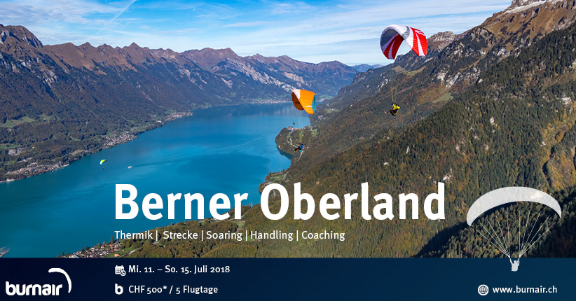 burnair Reise Berner Oberland - 13. Juli 2018 (Einzeltag)