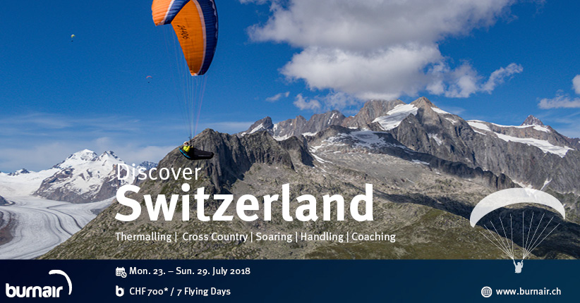 burnair Adventure - Discover Switzerland 2018