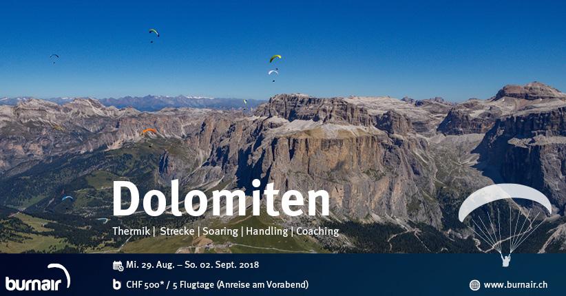 burnair Reise - Dolomiten und Gardasee 2018