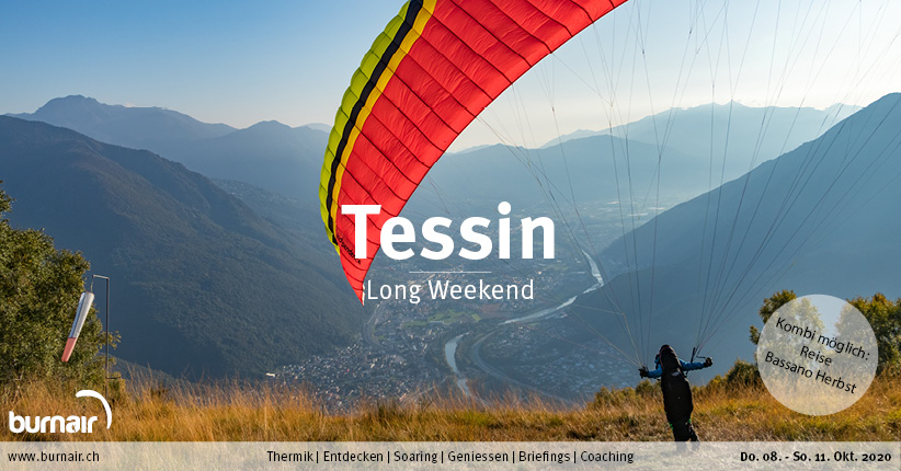 Tessin 2020 – Gleitschirm Long Weekend