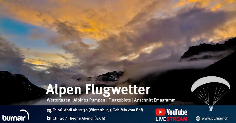 burnair Theorie Abend - Flugwetter in den Alpen (inkl. Talwinde) 2018