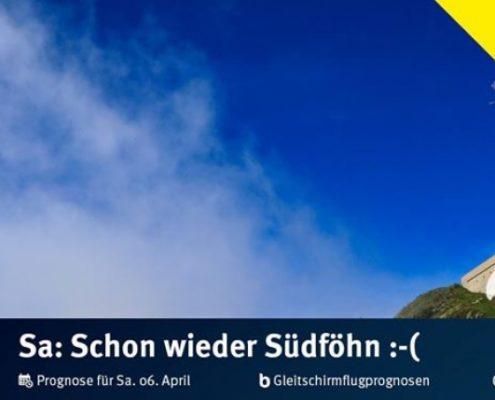 """burnair Gleitschirmflugprognosen für Samstag 07. April Grundsätzlich ein """"ganz OK"""""""