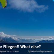 burnair Gleitschirmflugprognose für Samstag 21. April Wie lange habe ich