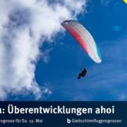 burnair Gleitschirmflugprognose für Mai 2018: Wiederum eine einigermassen schwierige Prognose.