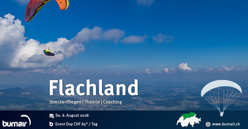 Thema Flachlandfliegen - burnair Event Day - 26. August 2018