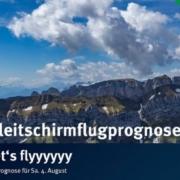 burnair Gleitschirmflugprognose für Samstag Früh fliegen und früh landen gehen