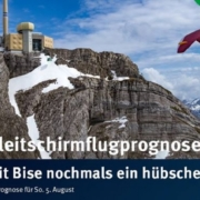 burnair Gleitschirmflugprognose für Sonntag 05. August Voralpen und Mittelland sind