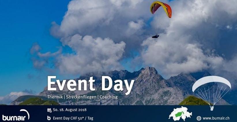 Morgen Sonntag ein spontaner Event Day! Hast du Lust fliegen