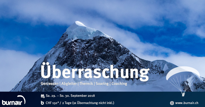 Überraschung – burnair Event Weekend