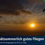 burnair Gleitschirmflugprognosen für Samstag 08. September Ein wunderbarer spätsommerlicher Tag