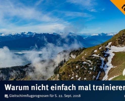 burnair Gleitschirmflugprognosen für Sa. 22. September 2018 Wer unten bleibt