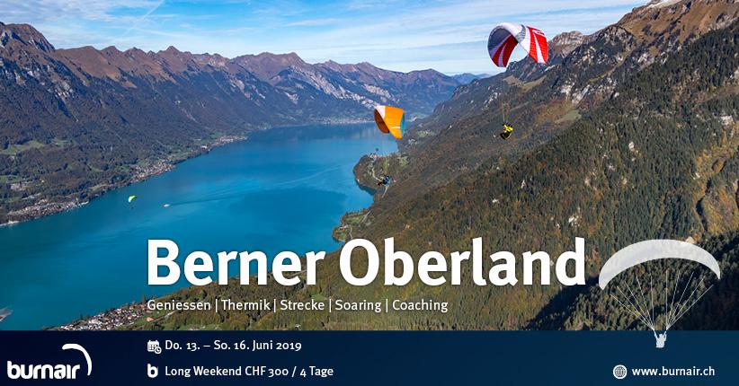 Long Weekend Berner Oberland - Fliegen in der schönsten Flugregion der Schweiz