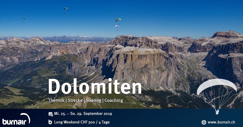 Long Weekend Dolomiten - Den imposanten Felswänden entlangschweben