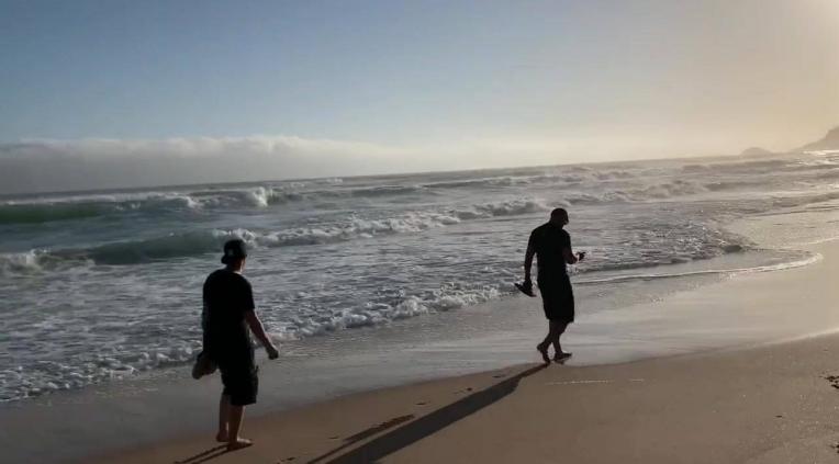 Ein wunderschöner Strandspaziergang mit einem Teil der tollen Kunden –