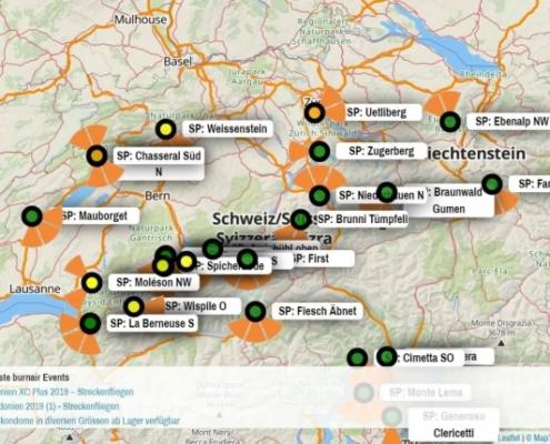 burnair FlyMap Schweiz: Heute Morgen konnten wir endlich die coolste