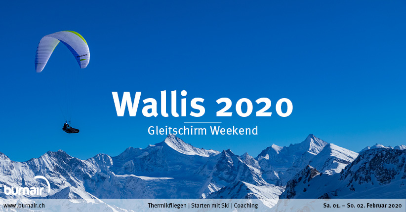 Wallis 2020 – Gleitschirm Weekend