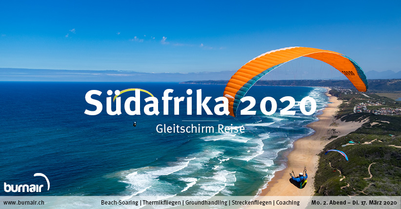Südafrika 2020 – Gleitschirm Reise