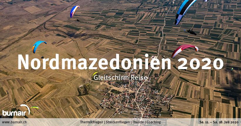 Nordmazedonien 2020 – Gleitschirm Reise