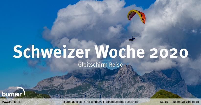 Schweizer Woche 2020 – Gleitschirm Reise