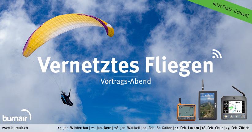 Vernetztes Fliegen - Bern – Gleitschirm Vortrag
