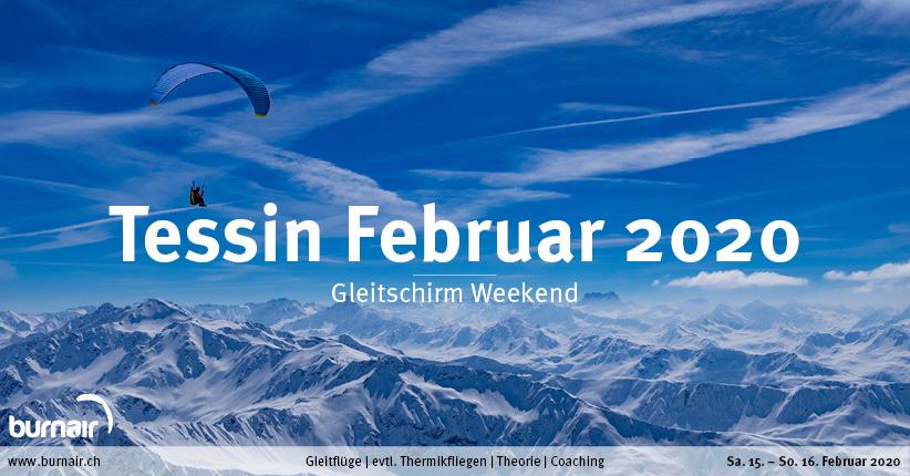 Tessin Februar – Gleitschirm Weekend