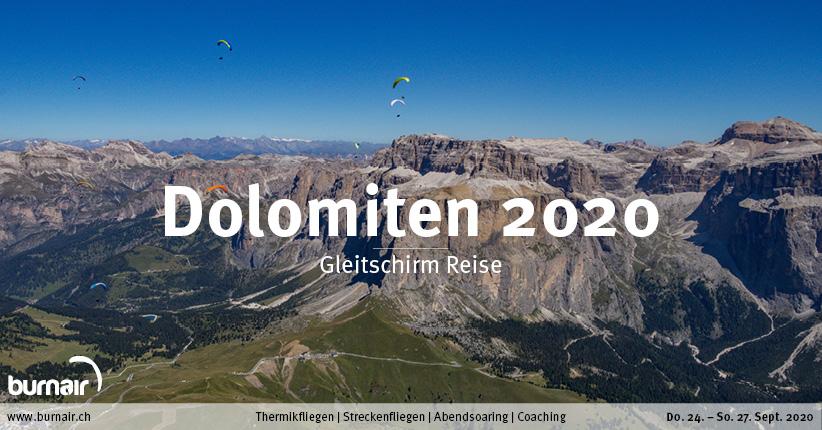 Dolomiten 2020 – Gleitschirm Reise
