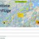 Vorbereitete Streckenflüge in der burnair Map