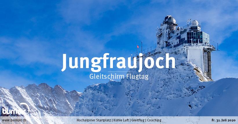 31. Juli 2020 – Gleitschirm Gleitflug vom Jungfraujoch