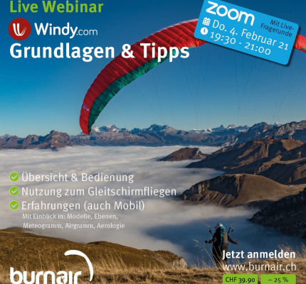 Live Webinar: Windy.com – Grundlagen und Tipps