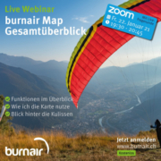"""Live Webinar """"burnair Map Gesamtüberblick"""" Zusatztermin heute Abend"""