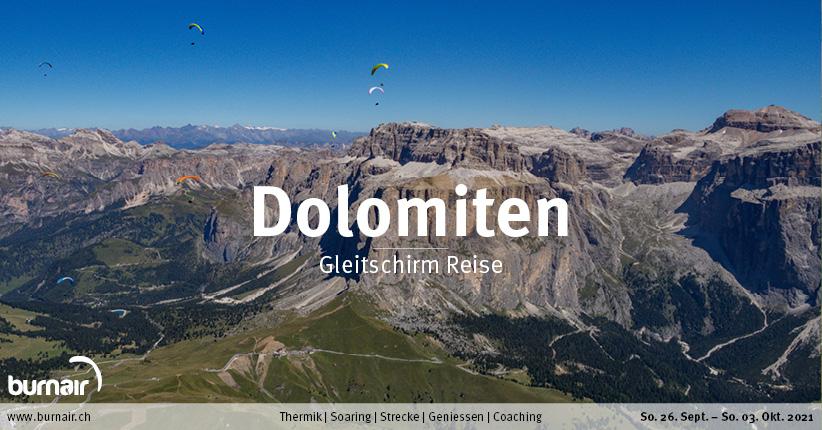 Dolomiten 2021 – Gleitschirm Reise