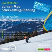 Live Webinar – burnair Map Streckenflugplanung Fanas 50 km