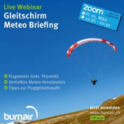 burnair Weekend Graubünden & Live Meteo Briefing am Fr. Abend