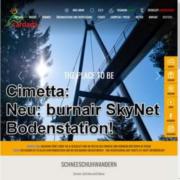 Cimetta (Tessin) neu mit burnair SkyNet Bodenstation
