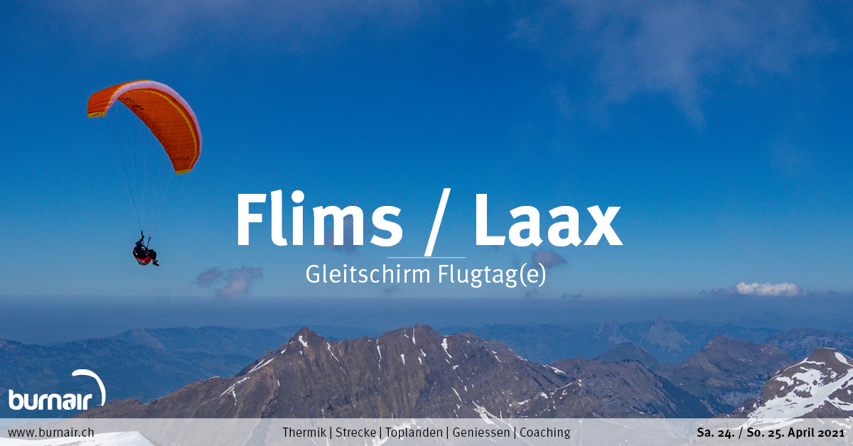 Flims/Laax, Sa. 24. April – Gleitschirm Flugtag
