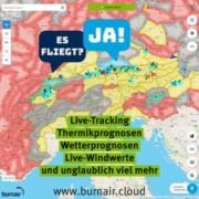 burnair Map – die Karte zum Gleitschirmfliegen