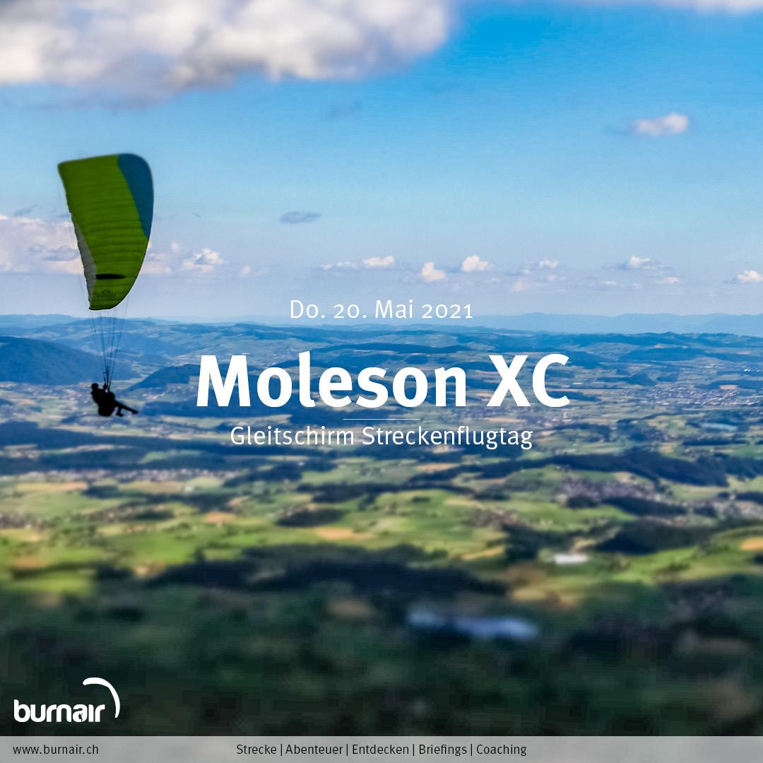 Moleson XC, Do. 20. Mai – Gleitschirm Flugtag
